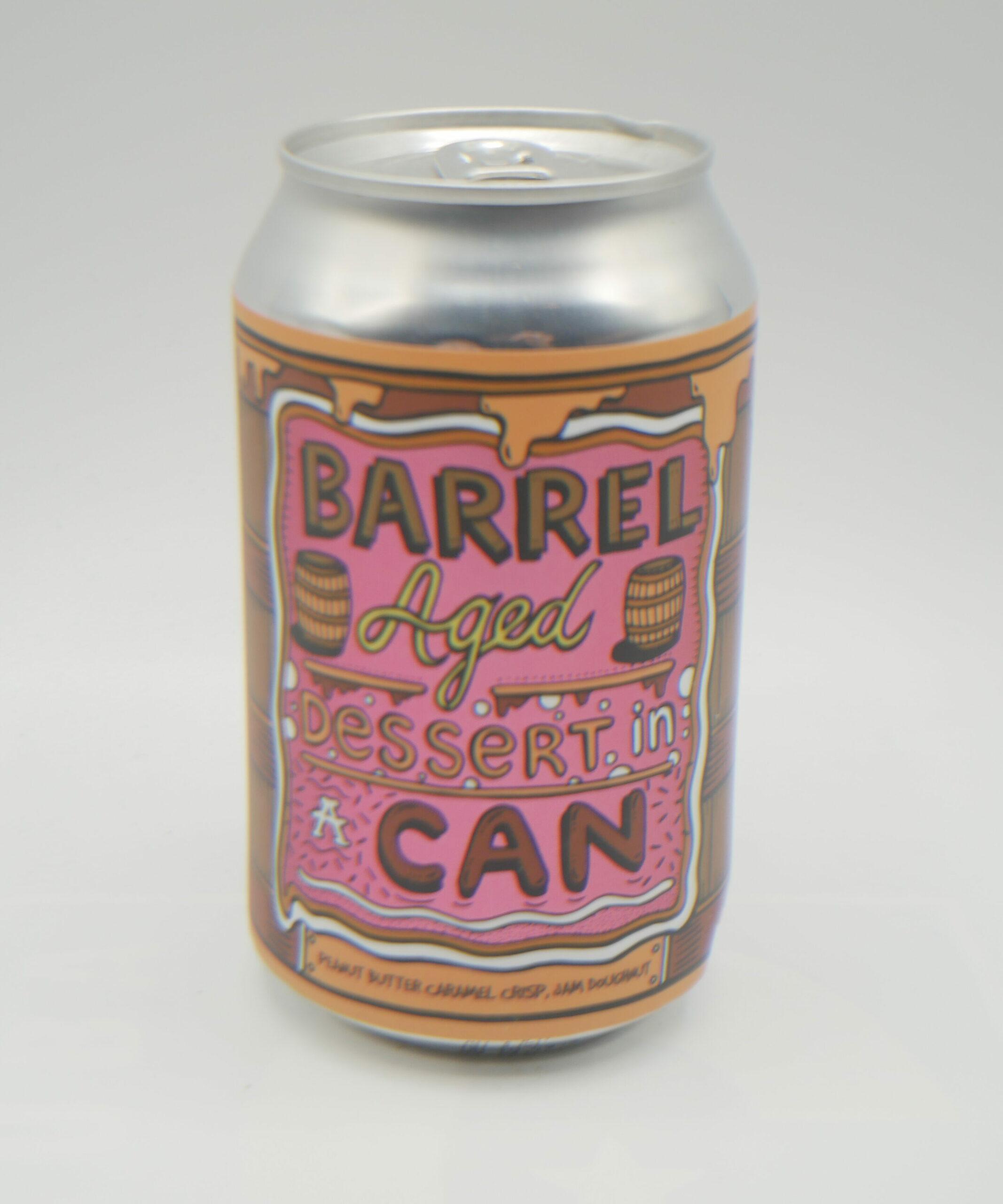 Image Barrel aged dessert in a can peanut butter caramel crisp jam doughnut