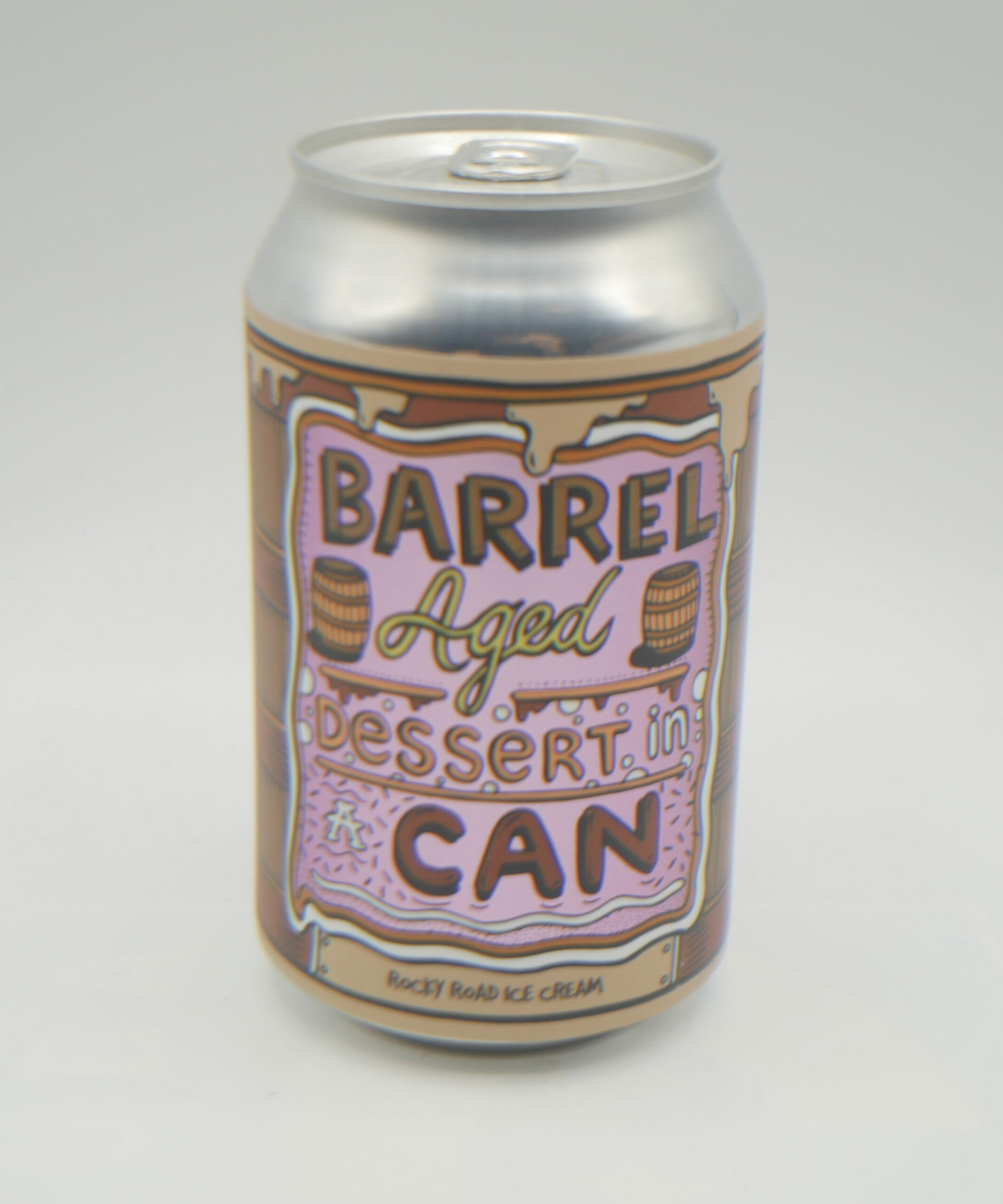 Img Barrel aged dessert in can rocky road ice cream