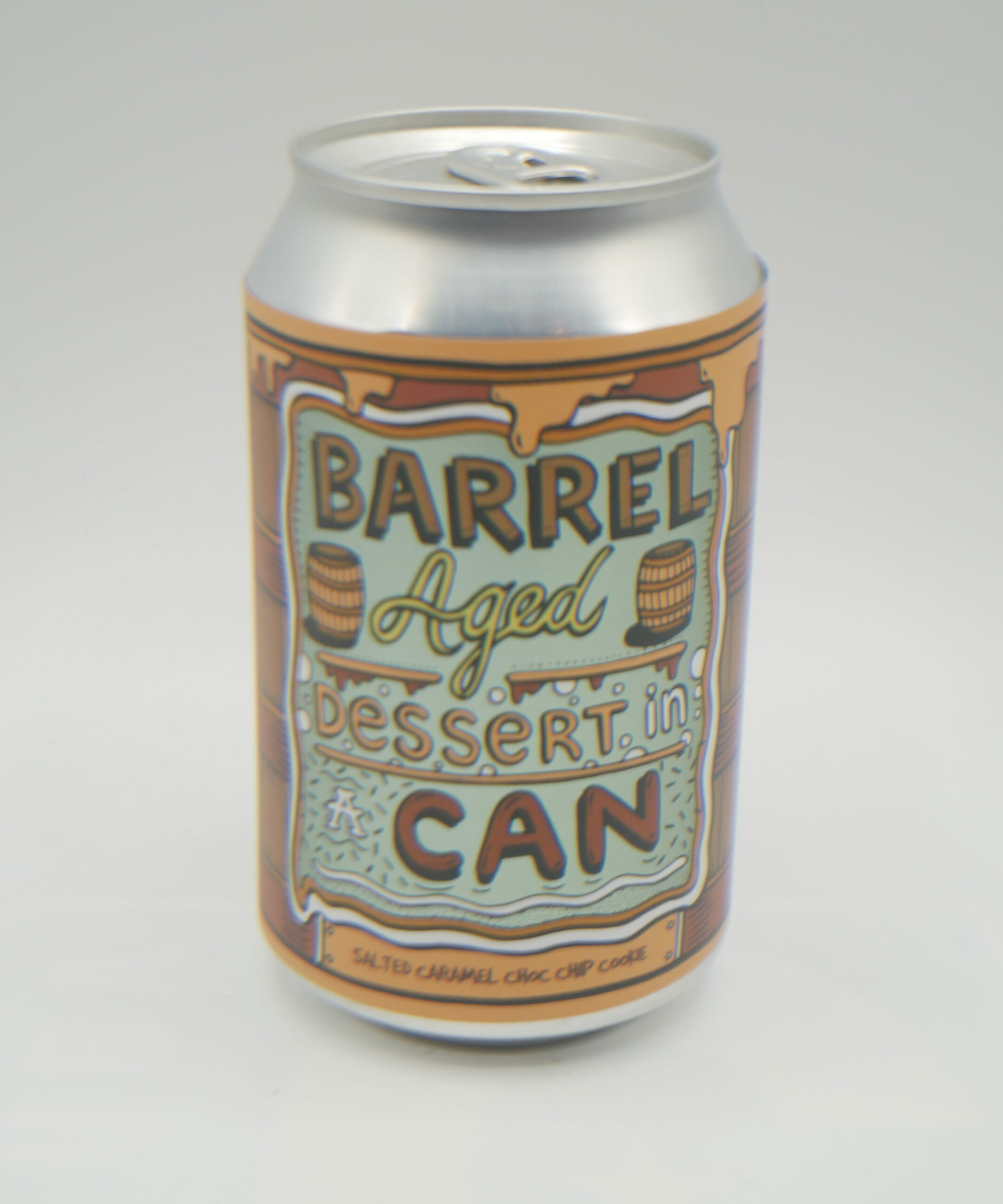 Img Barrel aged in dessert in a can salted caramel choc chip cookie